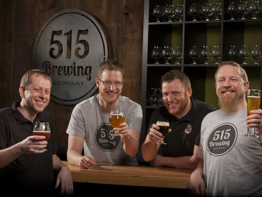 515 Brewing Co. owners, from left, Ryan Rost, Bailey