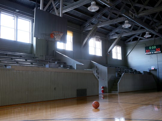 "The historic gym that appeared in the film ""Hoosiers"""