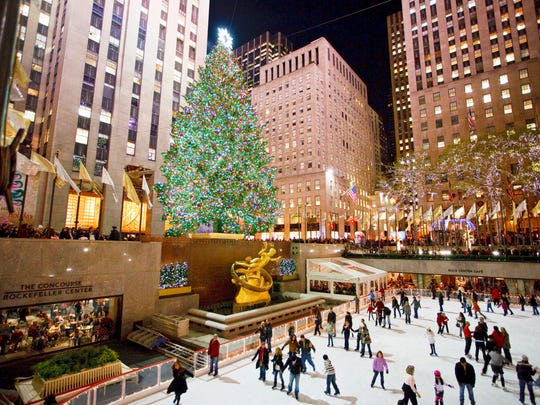 The ice rink at Rockefeller Center is open Dec. 25.