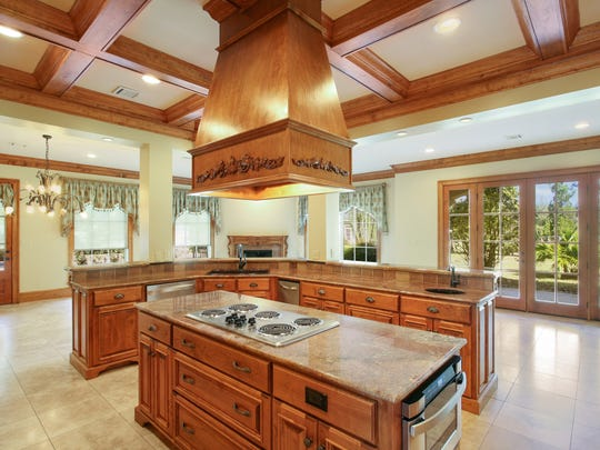 The large kitchen has every modern amenity.