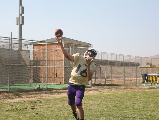 Soledad quarterback Gabriel Florez is looking to help
