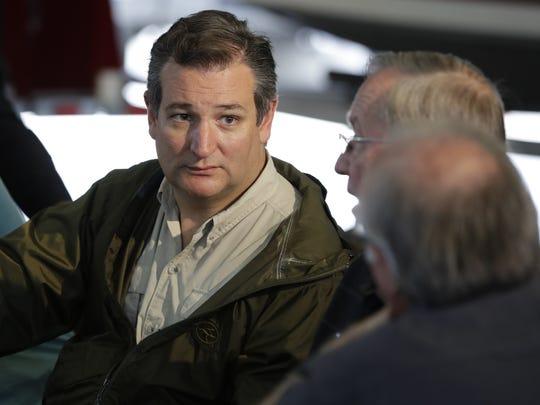 Sen. Ted Cruz, R-Texas, in Corpus Christi, Texas, on Aug. 29, 2017.