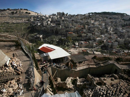 The site at the City of David, is seen next to the