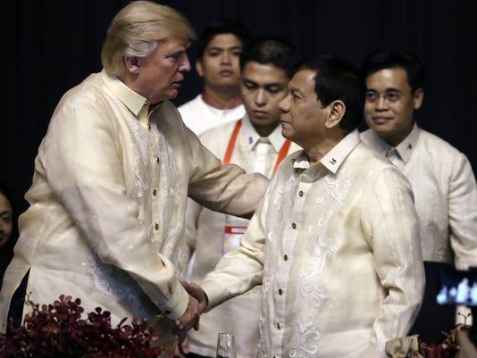 AP APTOPIX TRUMP PHILIPPINES I PHL