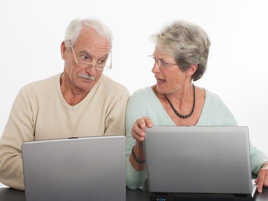 senior couple arguing