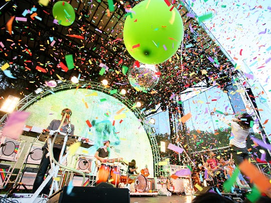 The Flaming Lips perform at Dover's first Firefly Music Festival in 2012.