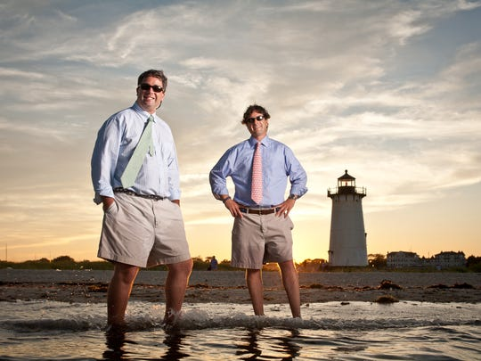 Shep, left, and his brother Ian Murray, founded Vineyard Vines in 1998 on Martha's Vineyard after quitting corporate jobs that they hated in New York City.