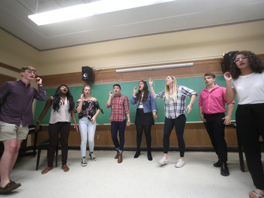 A cappella group All-Night Yahtzee rehearses at the Kuersteiner Music Building on FSU's campus Wednesday, April 11, 2018.