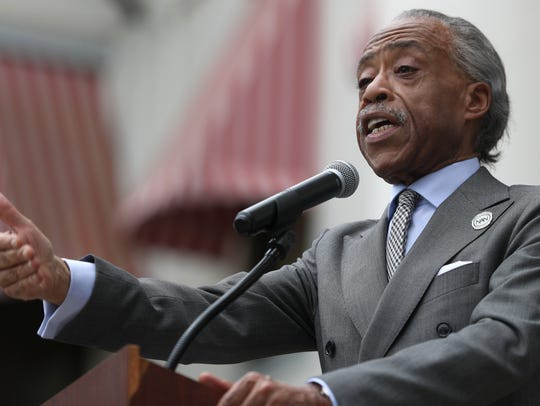 Civil rights leaders, including Rev. Al Sharpton, joined