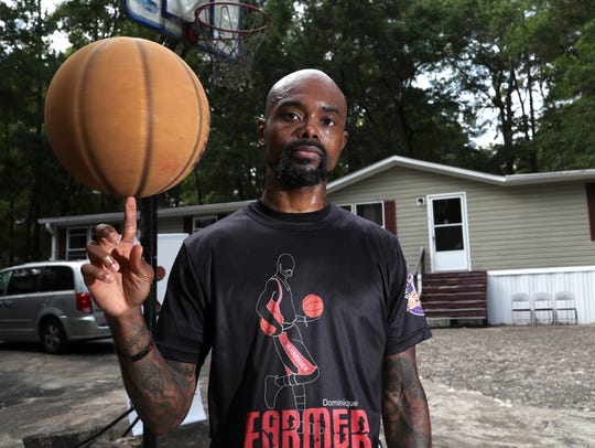 Dominique Farmer, a former Rickards High School basketball