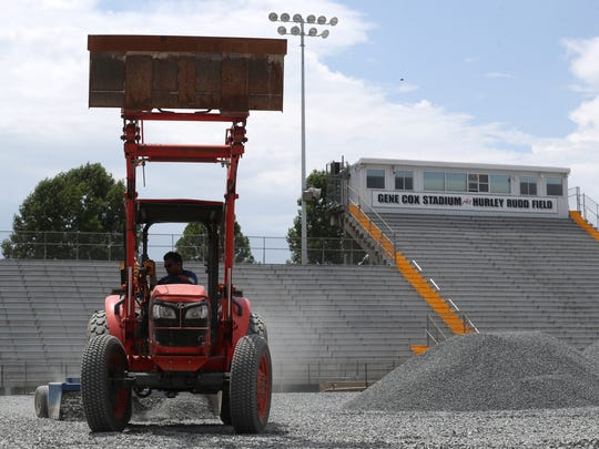 Gene Cox Stadium is undergoing renovations with an