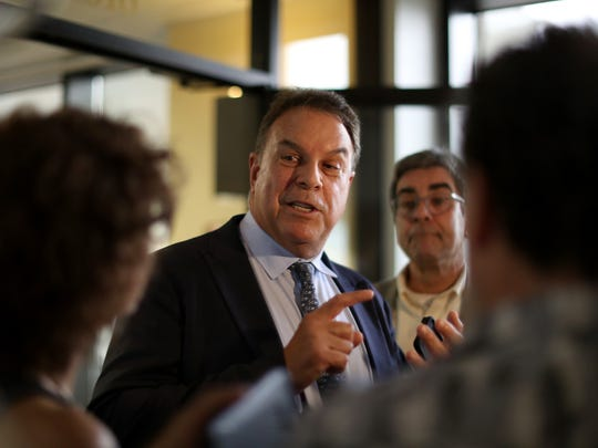 Democratic gubernatorial candidate Jeff Greene speaks