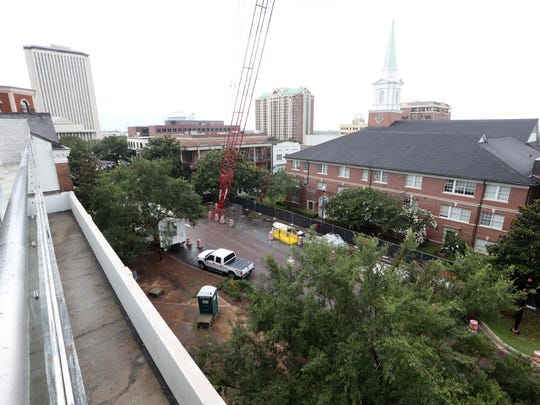 Construction continues with North Adams Street remaining