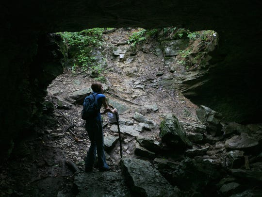 Hikers enjoy Trail No. 5 at McCormick's Creek State Park.
