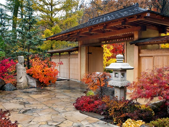 The Anderson Japanese Gardens in Rockford, Ill. are