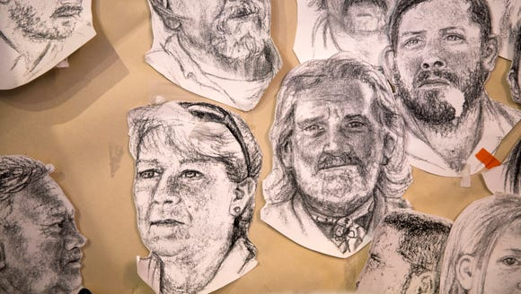Drawings of the airboat captains, created by a former