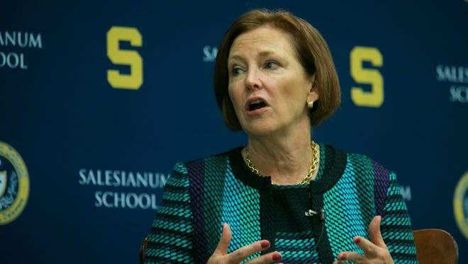 """Salesianum host Ellen J. Kullman for a Breakfast Speaker Series. The former Chair and CEO of E.I. du Pont de Nemours and Company presents """"Getting Schooled: Rebuilding America's Edge in Education and Business Innovation."""""""