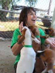 Ellen Silk Hicks started volunteering with the Humane