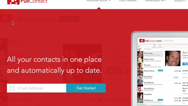 Full Contact, a new website that says it collects all your contacts into one place.