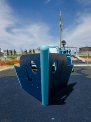 New playground equipment is installed Monday, May 9,