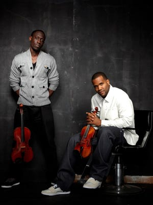 Black Violin performs at Uihlein Hall at the Marcus Center for the Performing Arts Saturday.