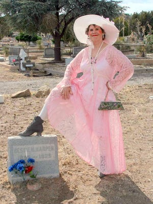 Liz Mikols will present a one-woman show depicting the lives of three Silver City madams on Sunday in Mimbres, NM.
