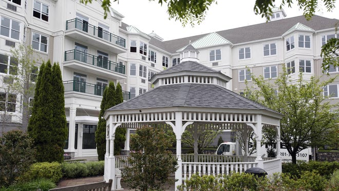 The gazebo outside the luxury apartment building at Riverside at Harbors-at-Haverstraw. U.S. Attorney sued the developer, Ginsburg Development Companies, alleging that the complex is not wheelchair accessible.