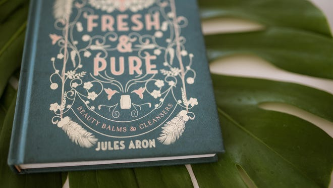 """Both recipes, the piña colada facial polish and moisturizing hand sanitizer, are from Jules Aron's """"Fresh & Pure"""" book."""
