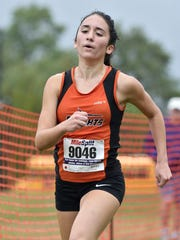 Hasbrouck Heights' Giana DiLascio (9046) finished first