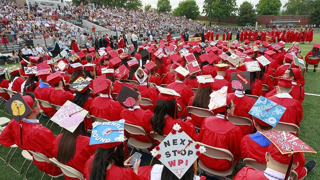 North Quincy High graduation at Veterans Stadium on Monday, June 10, 2019  Greg Derr/The Patriot Ledger