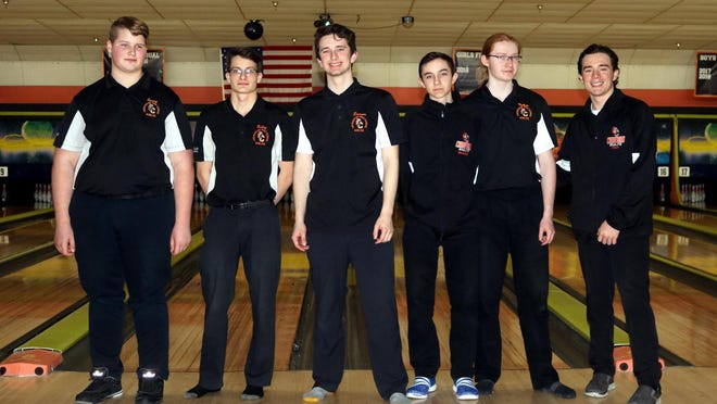 The 2019-20 Cheboygan varsity boys bowling team qualified for the MHSAA Division 3 team finals in Jackson. Members of that team included (from left) Tommy Jones, Bailey Wheelock, Dawson Campbell, Cole Swanberg, Nathan Wiles and Tyler Smith. Wiles, Swanberg and Jones will each be returning for this year's Cheboygan boys squad, which will look to defend its Northern Michigan Bowling Conference title.