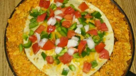 Verena created this colorful Taco Pie for the Eicher family. It was a big hit.