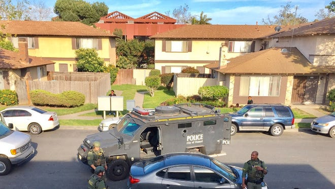 SWAT officers with the Oxnard Police Department assisted detectives with the service of a search warrant Friday in the 1000 block of Isleton Place.