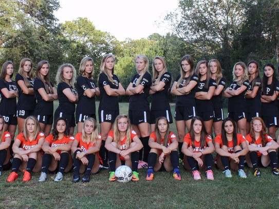 The Powell High girls soccer team won the district