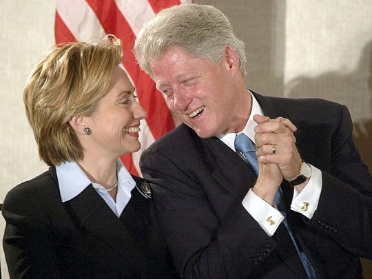 First Lady Hillary Clinton and President Bill Clinton