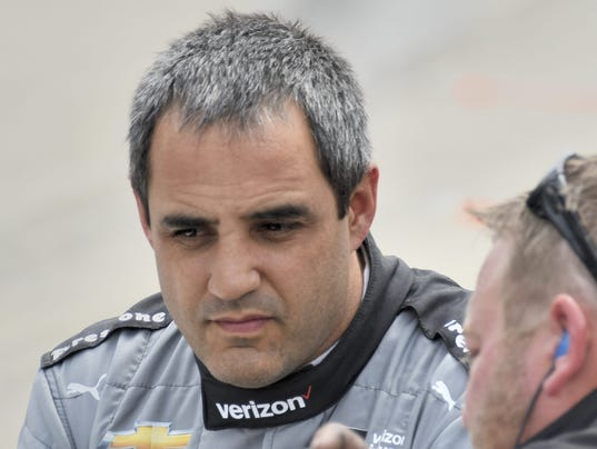 Car unfamiliar to Juan Pablo Montoya at IndyCar Barber tests