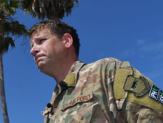 Lt. Colonel Timothy Hanks, commander of the 308th