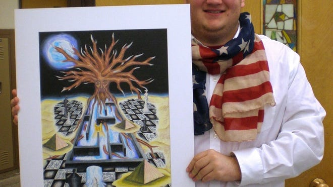 Aaron Pospyhalla earned an eighth place in the 2015 Student Art Exhibit competition.