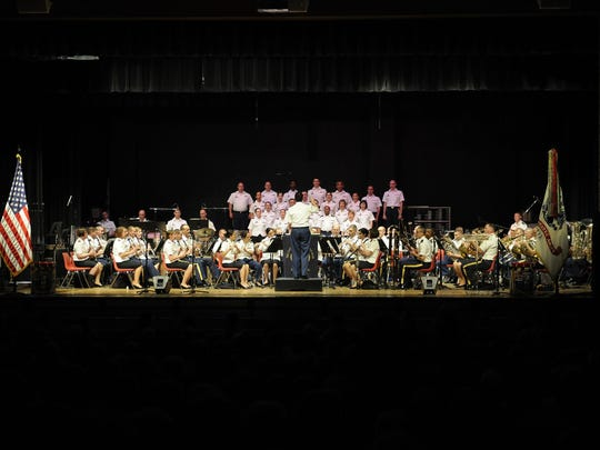 The U.S. Army Field Band and Soldiers Chorus performed a free concert at Port Clinton High School on Friday evening.