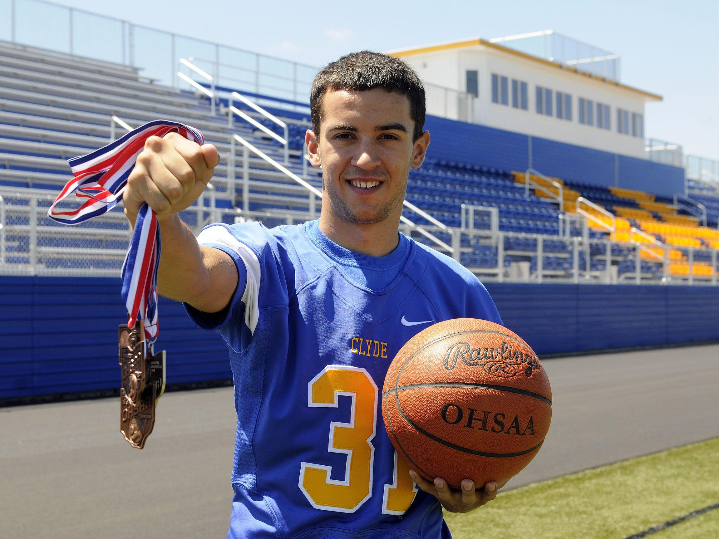 Collin Rieman, a three-sport athlete who excelled at football, basketball and ran track for Clyde High School, is a News-Messenger Michael Bosi Award winner.