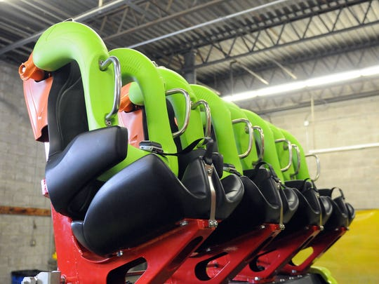 The new cars for Rougarou were on display during Saturday's second Winter Chill Out at Cedar Point.