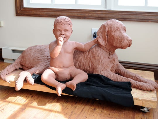 Andy Sacksteder's work includes life-size pieces of