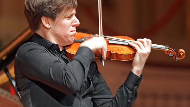 Violinist Joshua Bell, shown performing at Mechanics Hall in 2016, is scheduled to kick off Music Worcester's 2020-2021 season Oct. 16.