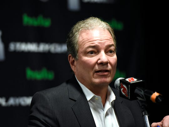 New Jersey Devils general manager Ray Shero speaks