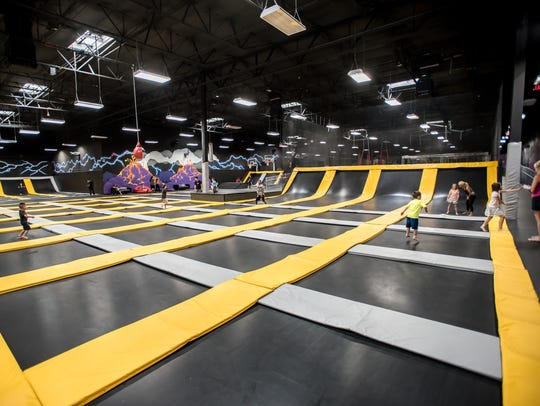 Defy Fort Myers will offer trampolines such as ones