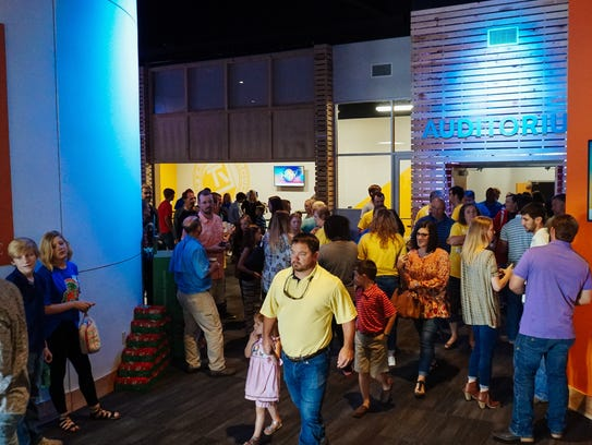 Worshippers at Venture Church's new Stone County location
