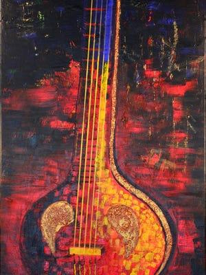 """""""Veena"""" by Brinda Pamulapati."""