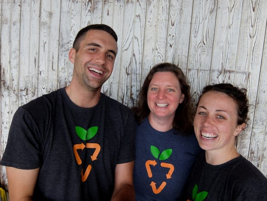 From left to right: Former coordinator for the Gleaning