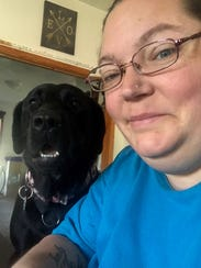 Chrystal Smith and her dog, Lillee.