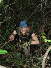 "Jenny Bennett in ""her native habitat."""